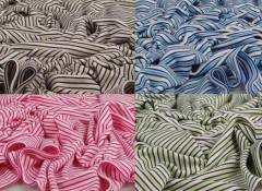 Letní deka bambusová proužek 150 x 200 cm