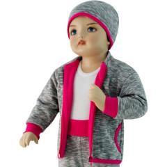 Dětská mikina David Esito šedá + růžová