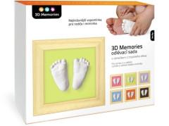3D Memories odlévací sada baby pro 3D odlitek ručiček a nožiček - mělký rámeček