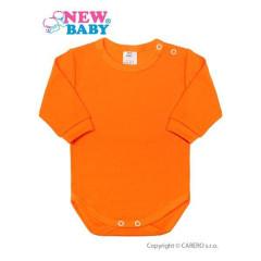 Kojenecké body s dlouhým rukávem New Baby Oranžové