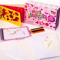 Meadow Kreslicí šablony s pastelkami mini box pro holčičky