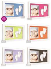 3D Memories odlévací sada pro 3D odlitek ručiček a nožiček s bílým hlubokým dvojrámečkem