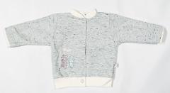 Teplejší kabátek melírek pastelový tyrkys Baby Service