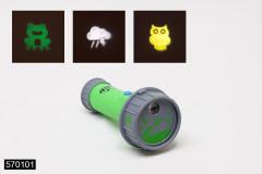 Svítilna cestovatelská 17cm s obrázky na baterie se zvukem