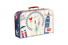 Dětský kufřík Londýn 35 cm červeno-modrý