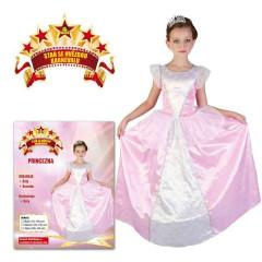 Šaty na karneval - Princezna růžovo-bílé