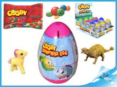 Cosby Surprise egg 12 cm s překvapením - cukrovinka, hračka a tetovačka