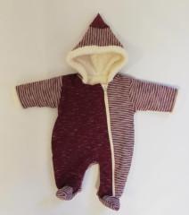 Zimní kombinéza zateplená melírek pruh červený wellsoft Baby Service