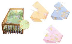 Ochranný límec mantinel (100% bavlna + molitan) 180 x 25 cm Medvídek na mráčku