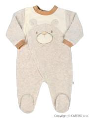 Kojenecký semišový overal Baby Service Veselý medvídek béžový vel. 50