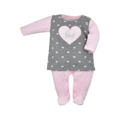 Kojenecký holčičí overal Koala Jessica šedo-růžový