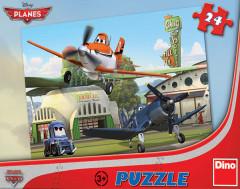 Puzzle Planes U hangáru 26,4x18,1cm 24 dílků v krabici 27,5x19x3,5cm