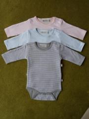 Body dlouhý rukáv proužek Baby Service vel. 50 RŮŽOVÁ