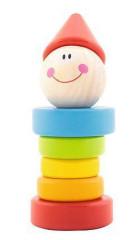 Dřevěná hračka - chrastítko Šašek 6m+ Trefl