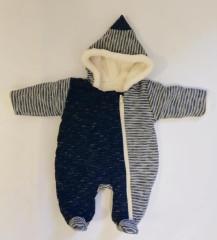 Zimní kombinéza zateplená melírek pruh modrý wellsoft Baby Service