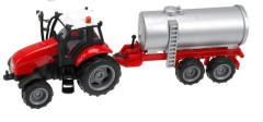 Traktor s vlečkou na setrvačník se zvukem a světlem, kov CISTERNA