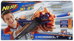 NERF Elite Crossbolt kuše se zásobníkem