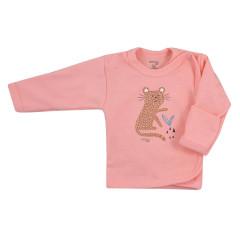 Kojenecká bavlněná košilka Koala Farm lososová