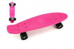 Skateboard - pennyboard 60cm, nosnost 90kg, kovové osy, růžová barva, černá kola