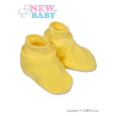 Dětské bačkůrky New Baby žluté vel. 62