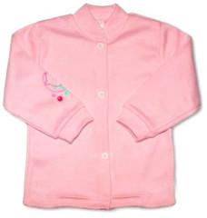 Bavlněný kabátek vel. 68 RŮŽOVÁ