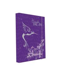 Desky na sešity Heft box A4 PREMIUM Kolibřík