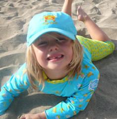 Dětská UV čepice tyrkysová