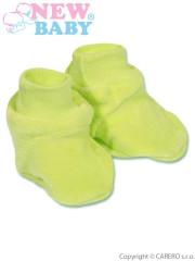 Dětské bačkůrky New Baby zelené vel. 62
