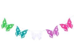 Papírová girlanda motýl 10ks
