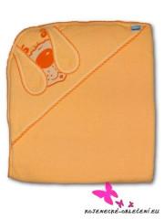 Dětská osuška pejsek  80 x 80 cm froté New baby ORANŽOVÁ