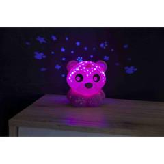 Usínací lampička medvídek s projektorem Playgro - růžová