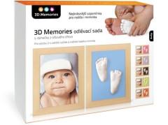 3D Memories odlévací sada baby pro 3D odlitek ručiček a nožiček - 2 rámečky olšové