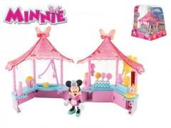 Minnie stánek cukrovinek s kloubovou figurkou a doplňky