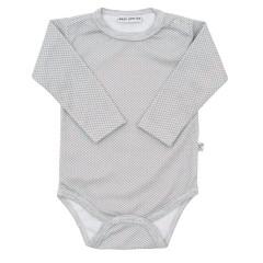 Body dlouhý rukáv Retrotisk Hvězdičky šedá Baby Service