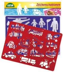 Kreslící šablony (dopravní prostředky, lidé)
