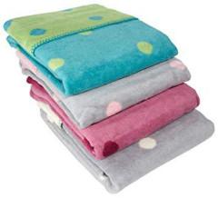Dětská deka 75x100 cm - bavlněný fleece se vzorem ByBoom