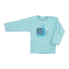 Kojenecká bavlněná košilka Koala Farm tyrkysová