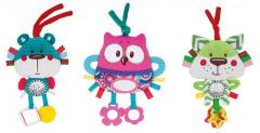 Plyšová edukační zavazovací hračka Forest Friends