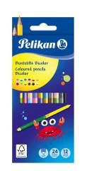 Oboustranné Pastelky Pelikan Bicolor 12 ks
