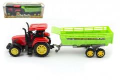 Traktor s vlekem plast 35cm na setrvačník