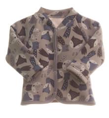 Dětský teplákový kabátek s kožíškem MKCool Lišky bez kapuce