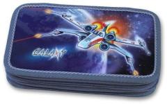 Školní pouzdro 2-patra prázdné Galaxy Emipo