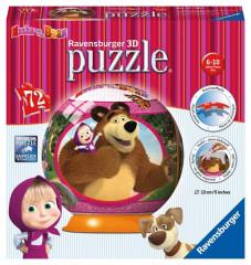 Máša a Medvěd puzzleball 72dílků