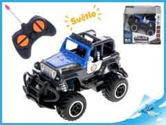 R/C auto terénní policie 13cm 1:43 27MHz plná funkce na baterie se světlem