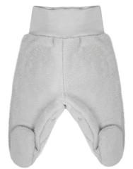 Fleecové polodupačky Baby Service Pinguin šedé Bez rozepínání