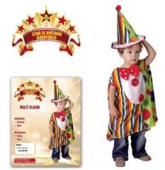Šaty na karneval - Malý klaun (92 - 104 cm)