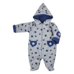 Zimní kojenecká kombinéza Koala Nelly šedo-modrá