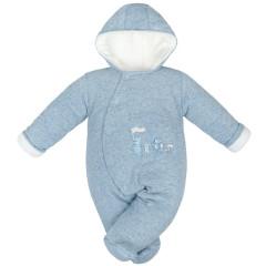 Zimní kombinéza zateplená Melírek modrá welsoft Baby Service
