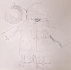 Soupravička s kapucí a kloboučkem slavnostní Bílá