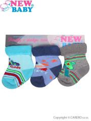 Kojenecké froté ponožky New Baby barevné - 3ks Vel. 74 (9 - 10 cm)